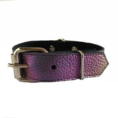 Collar cuero para perro 2,5x45 mediano tornasol