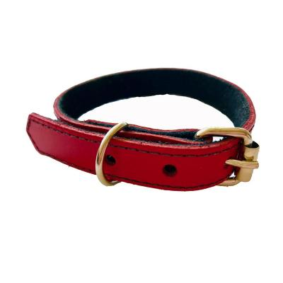 Collar cuero mascota 1,8x35 cm pequeño tornasol