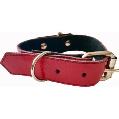 Collar cuero perro 2,5x45 cm mediano rojo