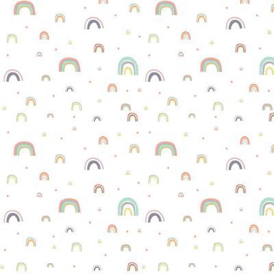 Papel mural Arcoiris blanco 100x500 cm