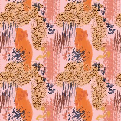 Papel mural manchas naranjo 100x500 cm