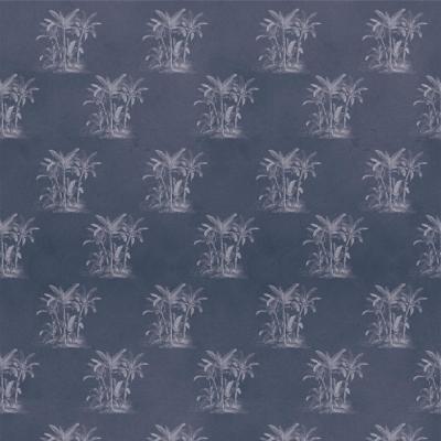 Papel mural palmeras hormigón azul 100x500 cm