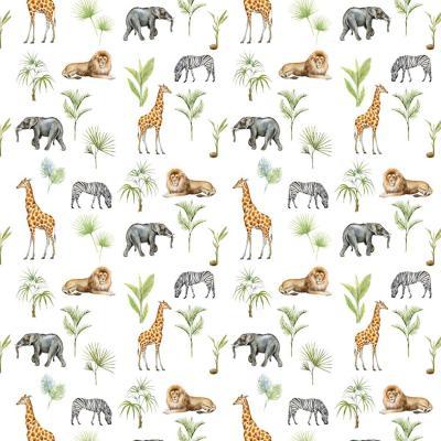 Papel Mural Selva Animales 100x500 cm