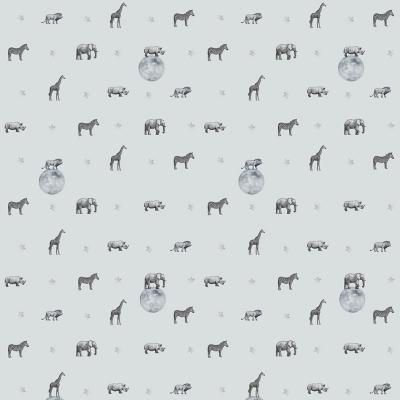 Papel Mural Animales Estrellas 100x500 cm