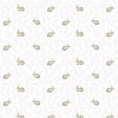 Papel mural conejos flores 100x500 cm