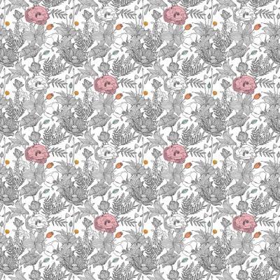 Papel mural floreado pattern 100x500 cm