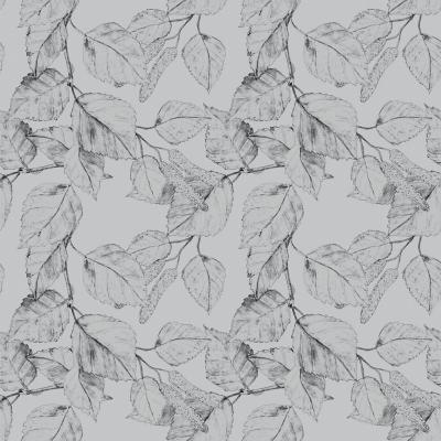 Papel Mural hojas grises 100x500 cm