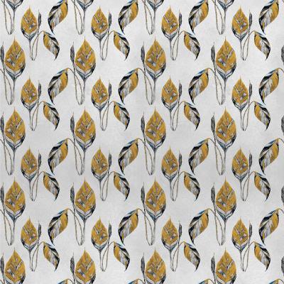 Papel mural hojas amarillas hormigón 100x500 cm