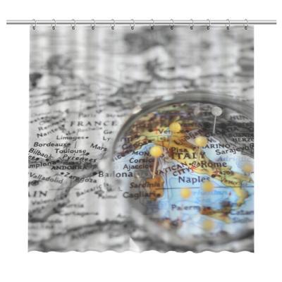 Cortina de baño mapa italia 150x180 cm