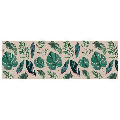 Camino de mesa hojas tropicales 200x40 cm