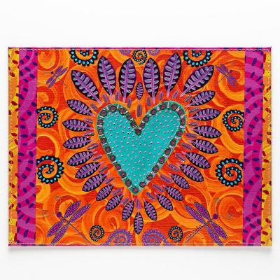 Individuales corazón tierra set 4 un 32x42 cm