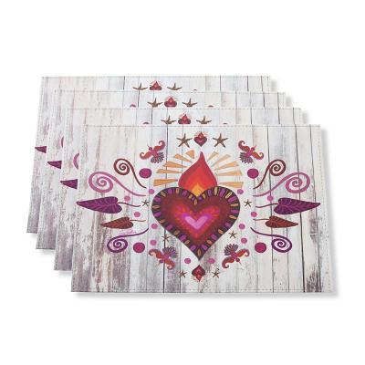 Individuales corazón mexicano set 4 un 32x42 cm