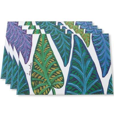 Individuales hojas set 4 unidades 32x42 cm
