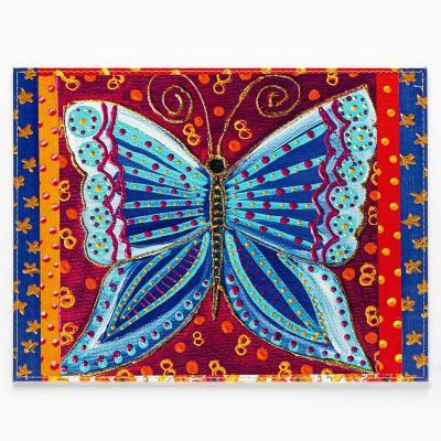 Individuales mariposa azul set 4 un 32x42 cm