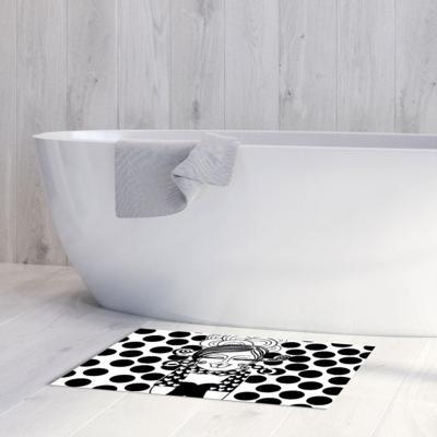 Alfombra vinílica baño 50x70 cm rubia