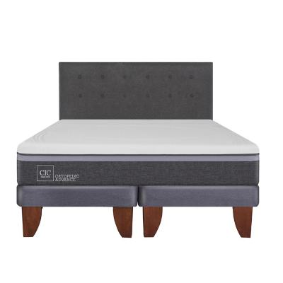 Cama europea ortopedic advance 2 plazas bd + respaldo