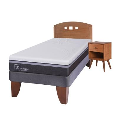 Cama europea ortopedic advance 1.5 plazas + muebles