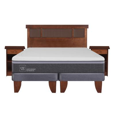 Cama europea ortopedic advance 2 plazas bd + muebles