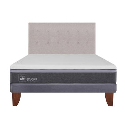 Cama europea ortopedic advance 2 plazas bn + respaldo
