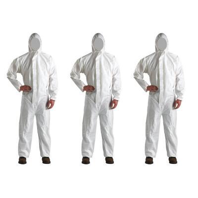 Pack 3 overoles desechables blanco XXL microporosos