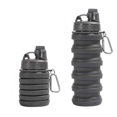 Botella plegable 500 ml negra