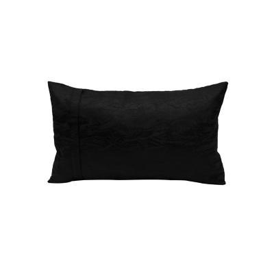 Cojín relieve aqua negro 30x50 cm
