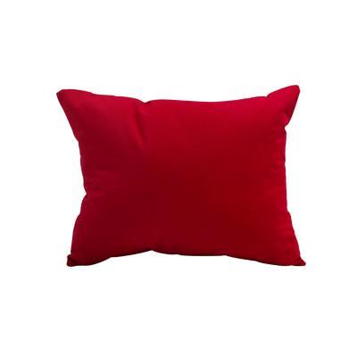 Cojín liso aqua rojo 30x50 cm