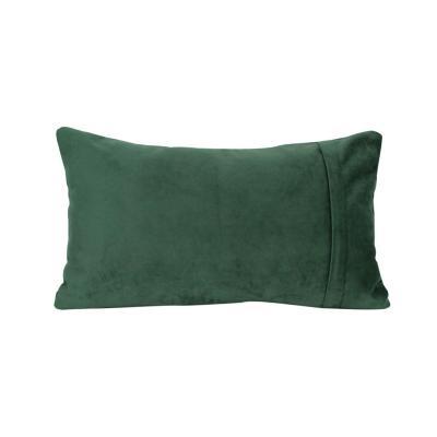 Cojín felpa verde 30x50 cm