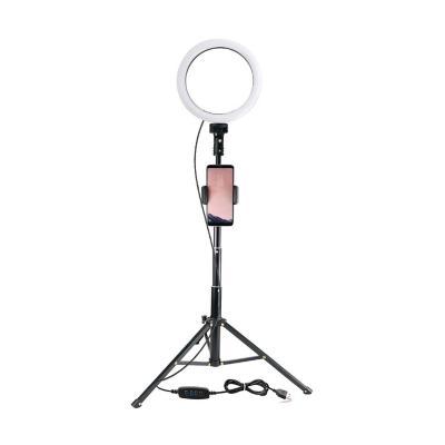 Kit aro luz led 10'' usb +trípode+soporte celular