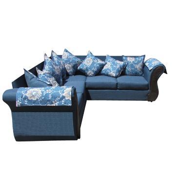 Sofá Seccional Irlanda Azul 87x210x210 cm