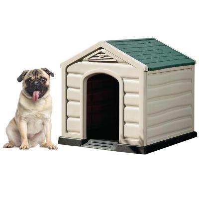 Casa para perros 68x61x58,5 cm techo verde pequeña