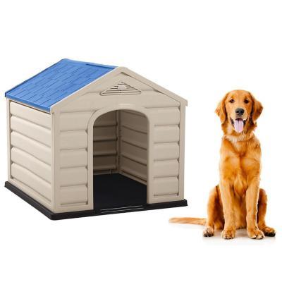Casa para perros 92x90x89 cm techo azul grande