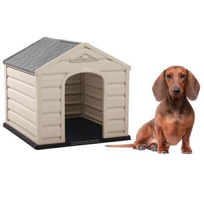 Casa para perros 68x61x58,5 cm techo gris pequeña