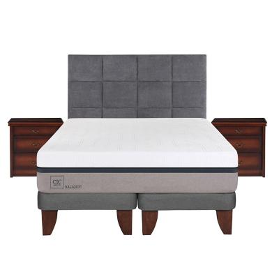 Cama europea balance super king + muebles
