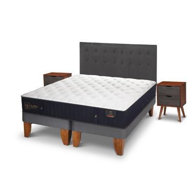 Cama europea premium king + muebles
