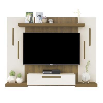"""Panel TV 50"""" Cronos Pino y Blanco 125x160x25 cm"""