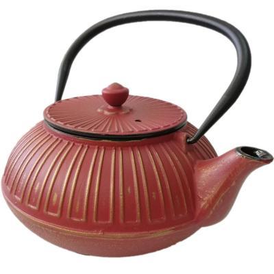 Tetera Fierro Fundido con filtro 1 litro Rojo