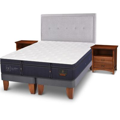 Cama europea grand premium king + muebles