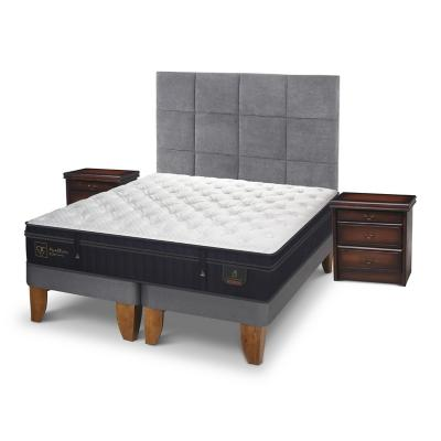 Cama europea super premium super king + muebles