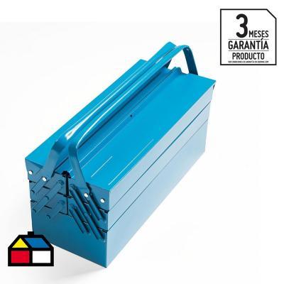 Caja porta herramientas 5 cajones azul
