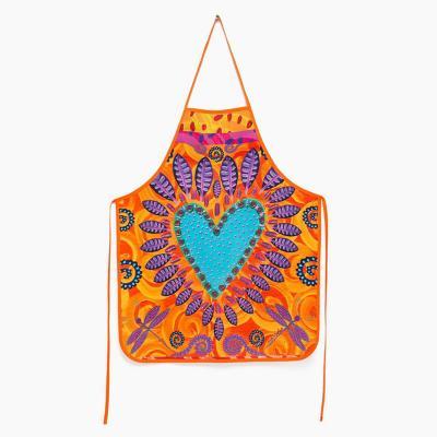 Delantal cocina corazón tierra 68x55 cm