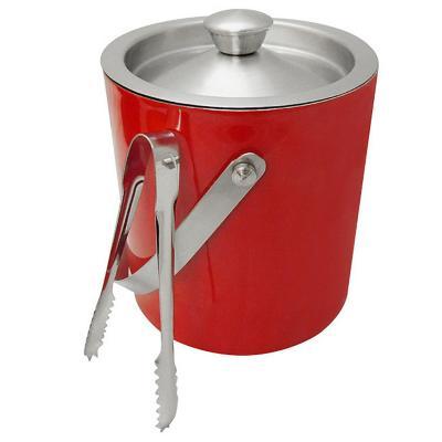 Set Hielera Con Pinza Rojo