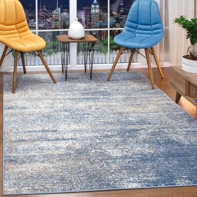 Alfombra florida azul 120x180 cm