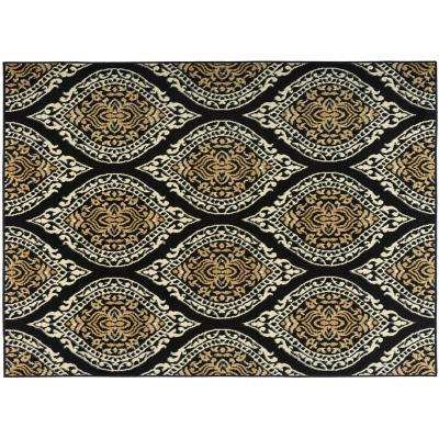 Alfombra kashan king pasillo negro 61x213 cm