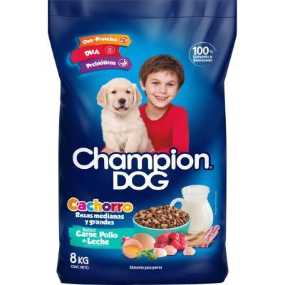 Alimento seco para cachorro 8 kg carne, pollo y leche
