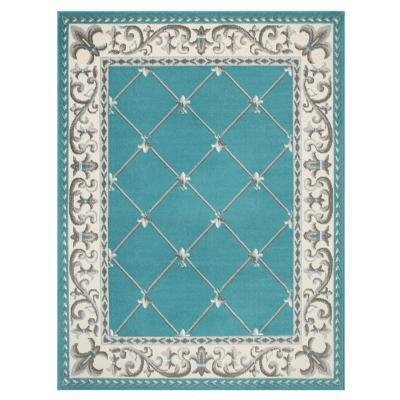Alfombra kashan king azul 245x305 cm