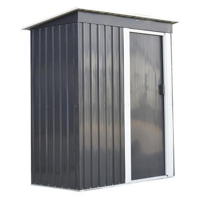 Bodega de jardín metal 181x162x86 cm gris