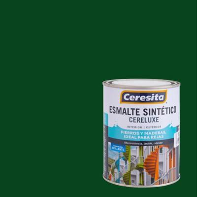 Esmalte sintético verde trébol 1/4 de galón