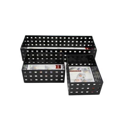 Set 3 organizadores rectangular acrilico negro