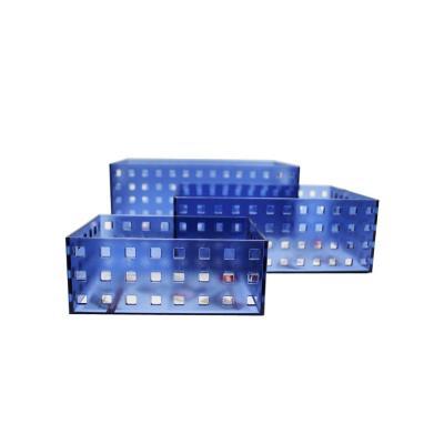 Set organizador acrílico multifunción azul